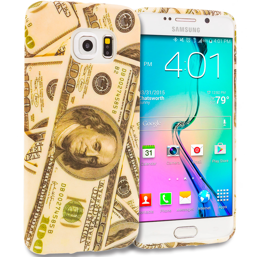 Samsung Galaxy S6 Edge Money TPU Design Soft Rubber Case Cover