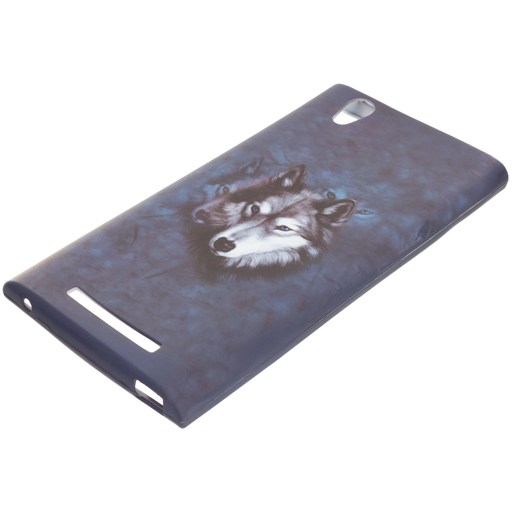 ZTE Zmax Wolf TPU Design Soft Rubber Case Cover