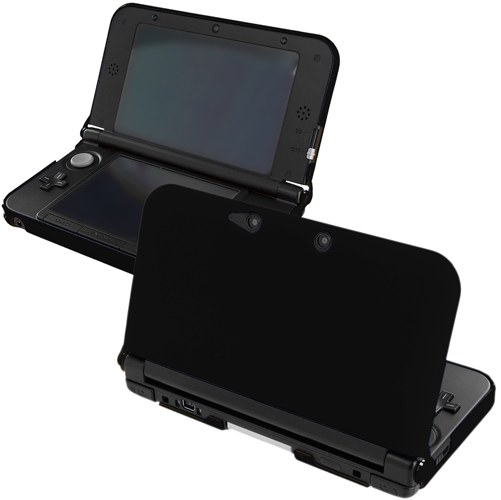 New 2015 Nintendo 3DS XL Black Hard Rubberized Case Cover