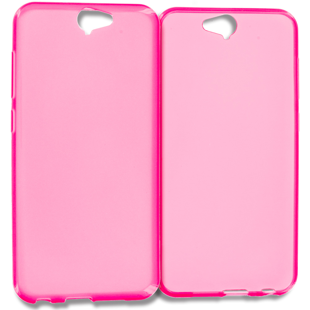 HTC Aero One A9 Hot Pink TPU Rubber Skin Case Cover
