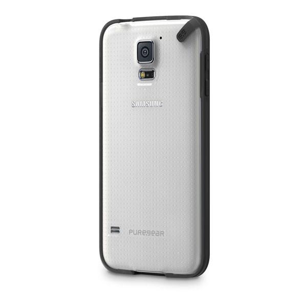 Samsung Galaxy S5 - Clear/Black PureGear Slim Shell Case