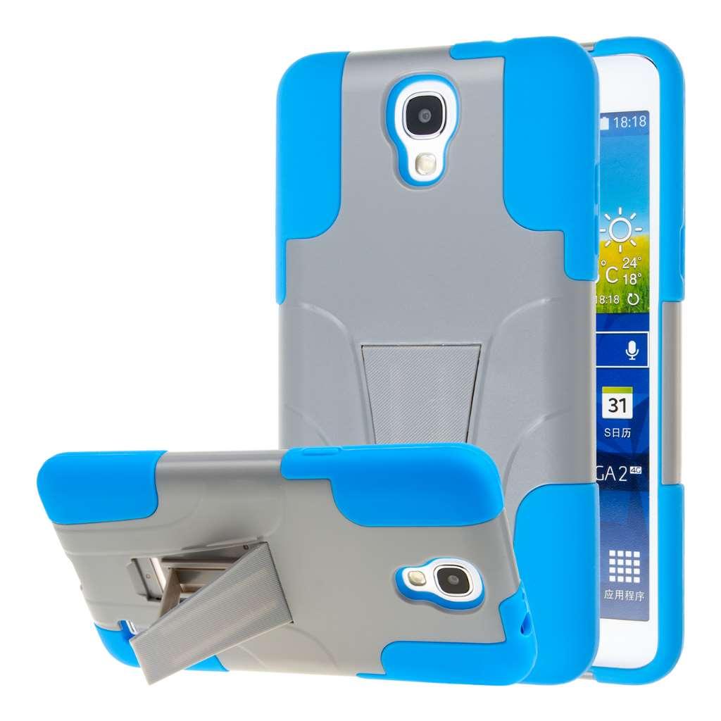 Samsung Galaxy Mega 2 - Blue / Gray MPERO IMPACT X - Kickstand Case Cover