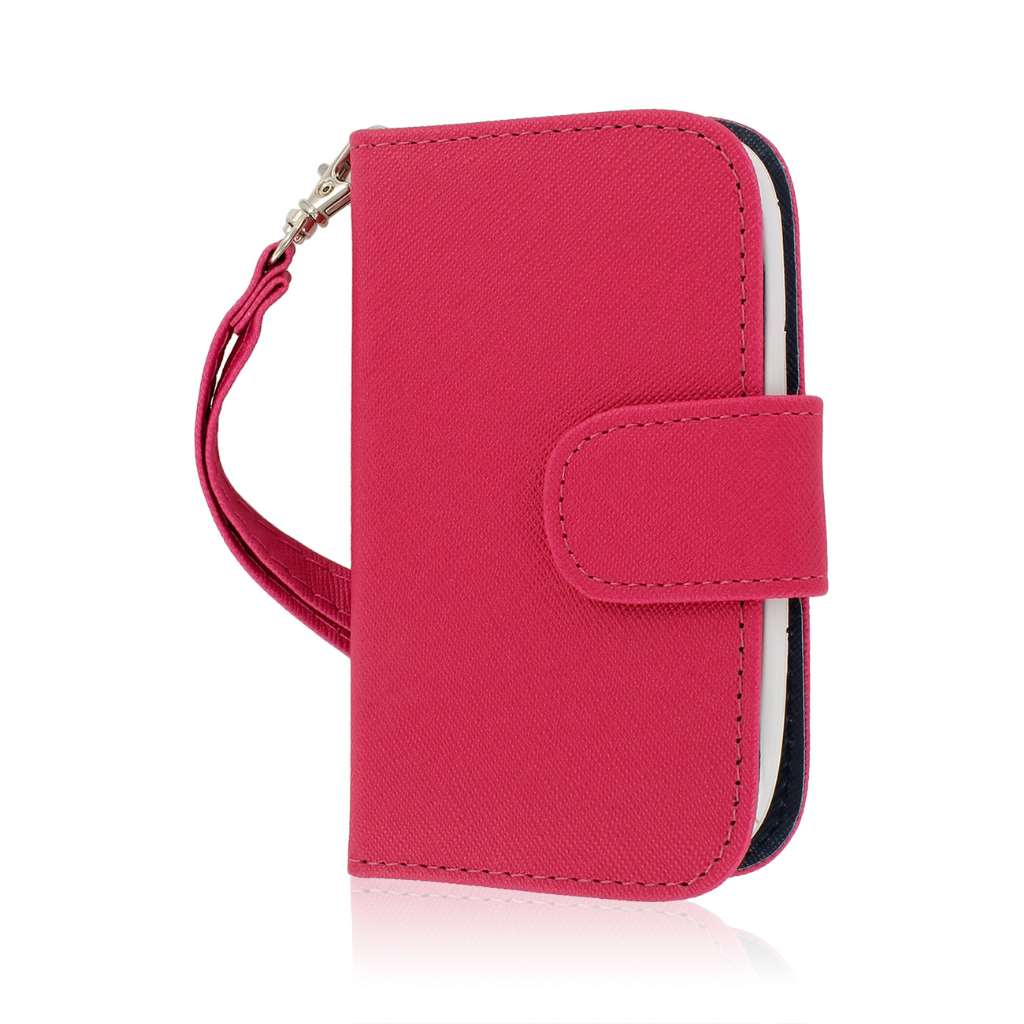 ZTE Aspect - Hot Pink MPERO FLEX FLIP Wallet Case Cover