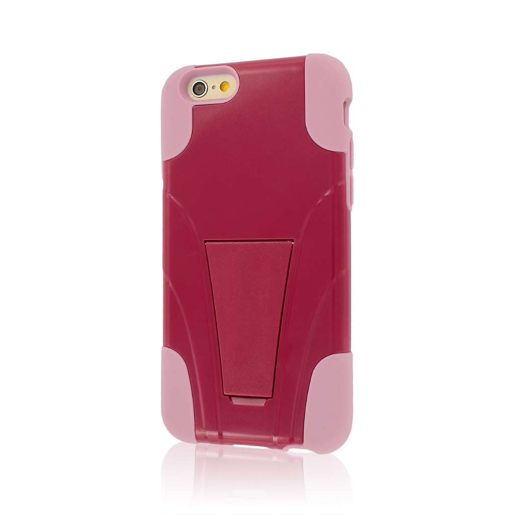 Apple iPhone 6/6S - Hot Pink / Pink MPERO IMPACT X - Kickstand Case Cover