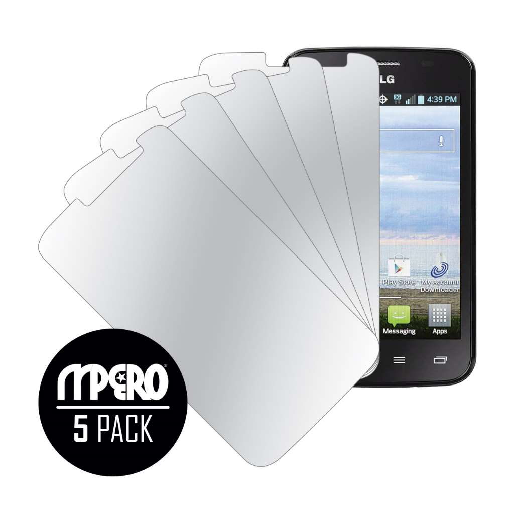 LG Optimus Dynamic 2 MPERO 5 Pack of Mirror Screen Protectors