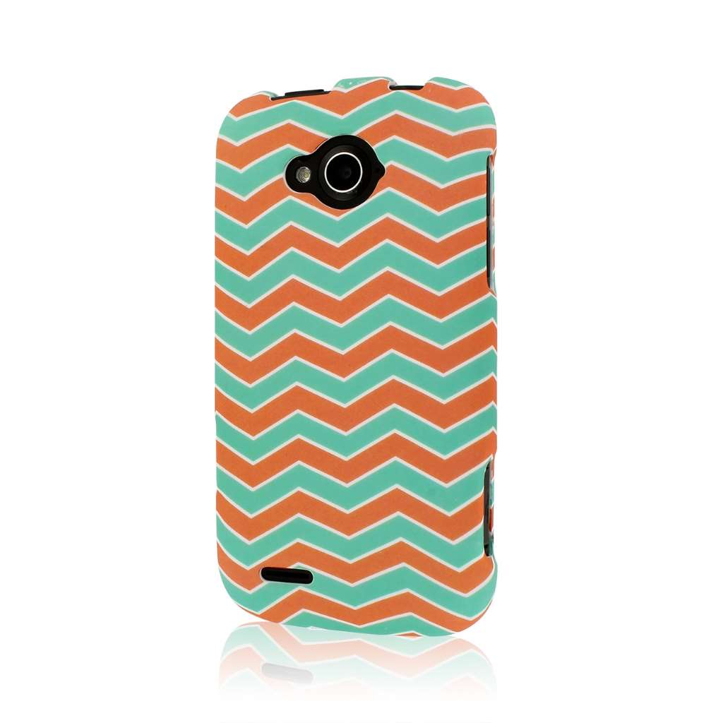 ZTE Reef - Mint Chevron MPERO SNAPZ - Rubberized Case Cover