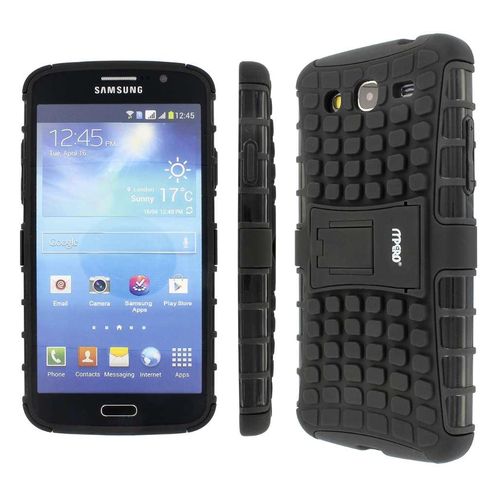 Samsung Galaxy Mega 5.8- black MPERO IMPACT SR - Kickstand Case Cover
