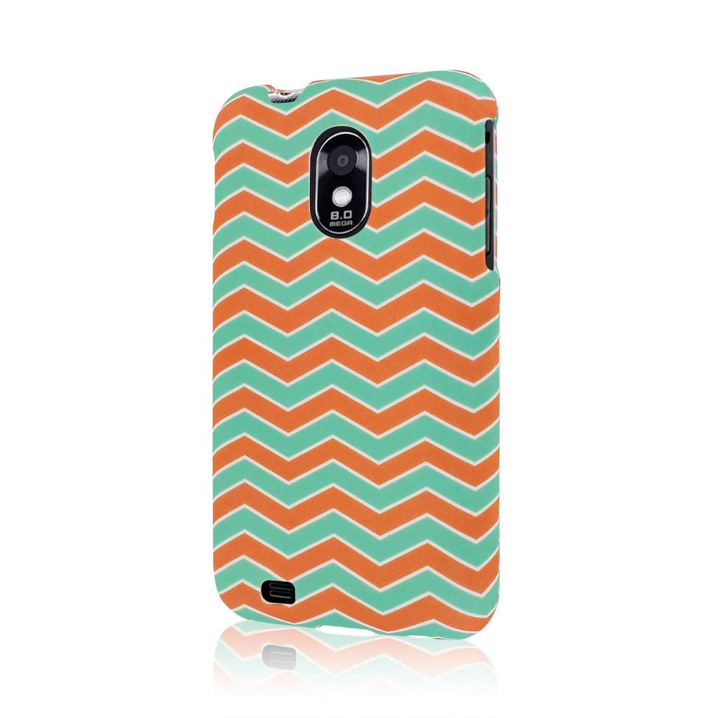 Samsung Epic 4G Touch - Mint Chevron MPERO SNAPZ - Rubberized Case Cover