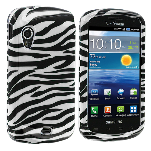 Samsung Stratosphere i405 Black / White Zebra Design Crystal Hard Case Cover