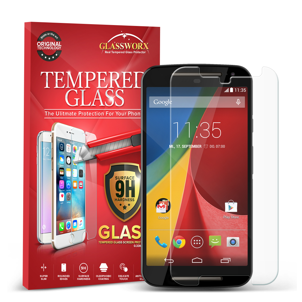 Motorola Moto G 2nd Gen 2014 GlassWorX HD Clear Tempered Glass Screen Protector