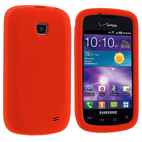 Samsung Illusion i110 Orange Silicone Soft Skin Case Cover