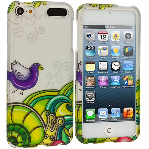 Apple iPod Touch 5th 6th Generation Birds and Animals Hard Rubberized Design Case Cover