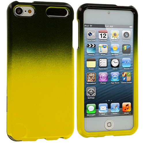 Apple iPod Touch 5th 6th Generation Black / Yellow Two-Tone Hard Case Cover