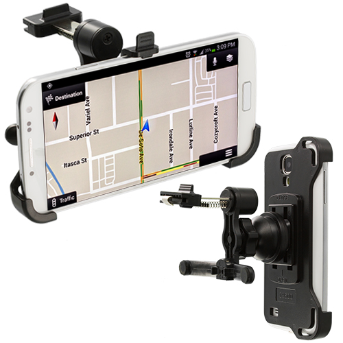 Samsung Galaxy S4 i9500 360 Rotating Black Car Vent Clip Mount