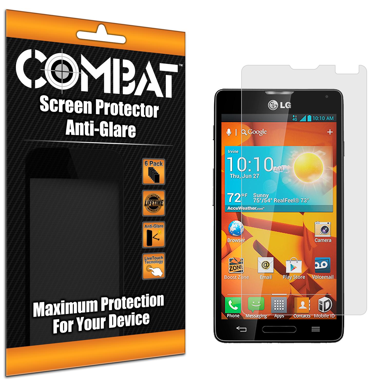 LG Optimus F7 Combat 6 Pack Anti-Glare Matte Screen Protector