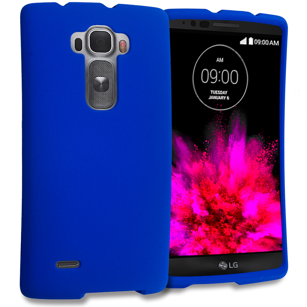 LG G Flex 2 Blue Hard Rubberized Case Cover
