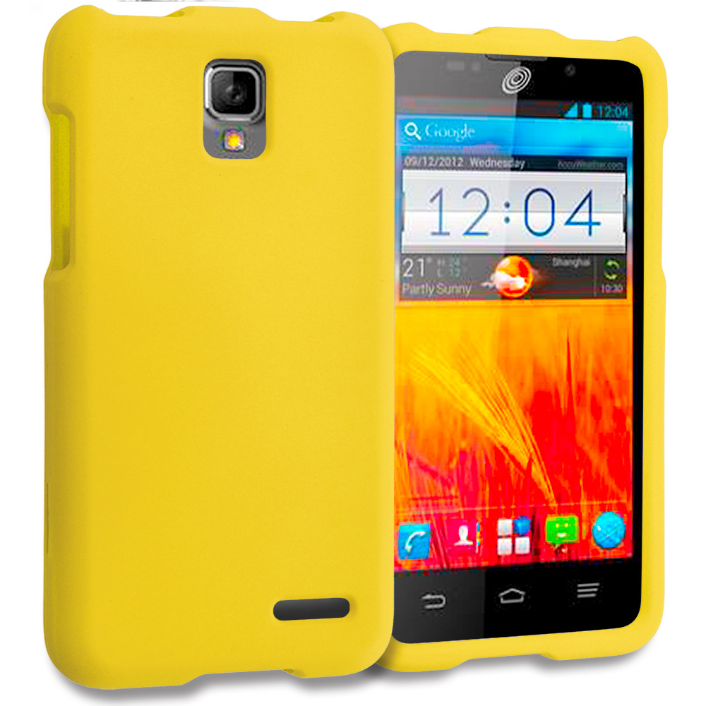 ZTE Rapido Z932C Yellow Hard Rubberized Case Cover