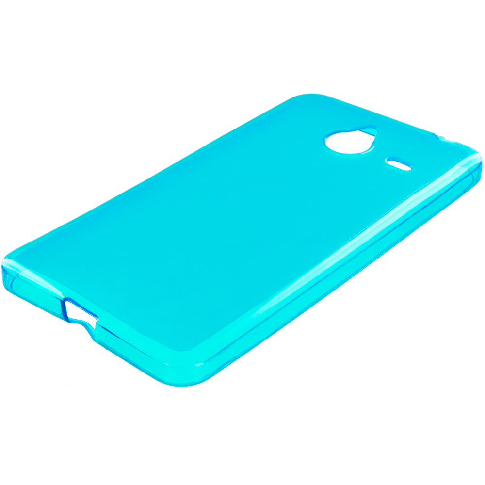 Microsoft Lumia 640 XL Baby Blue TPU Rubber Skin Case Cover