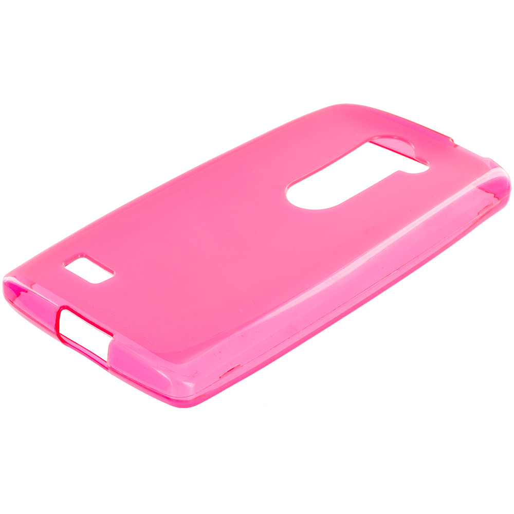 LG Tribute 2 Leon Power Destiny Hot Pink TPU Rubber Skin Case Cover