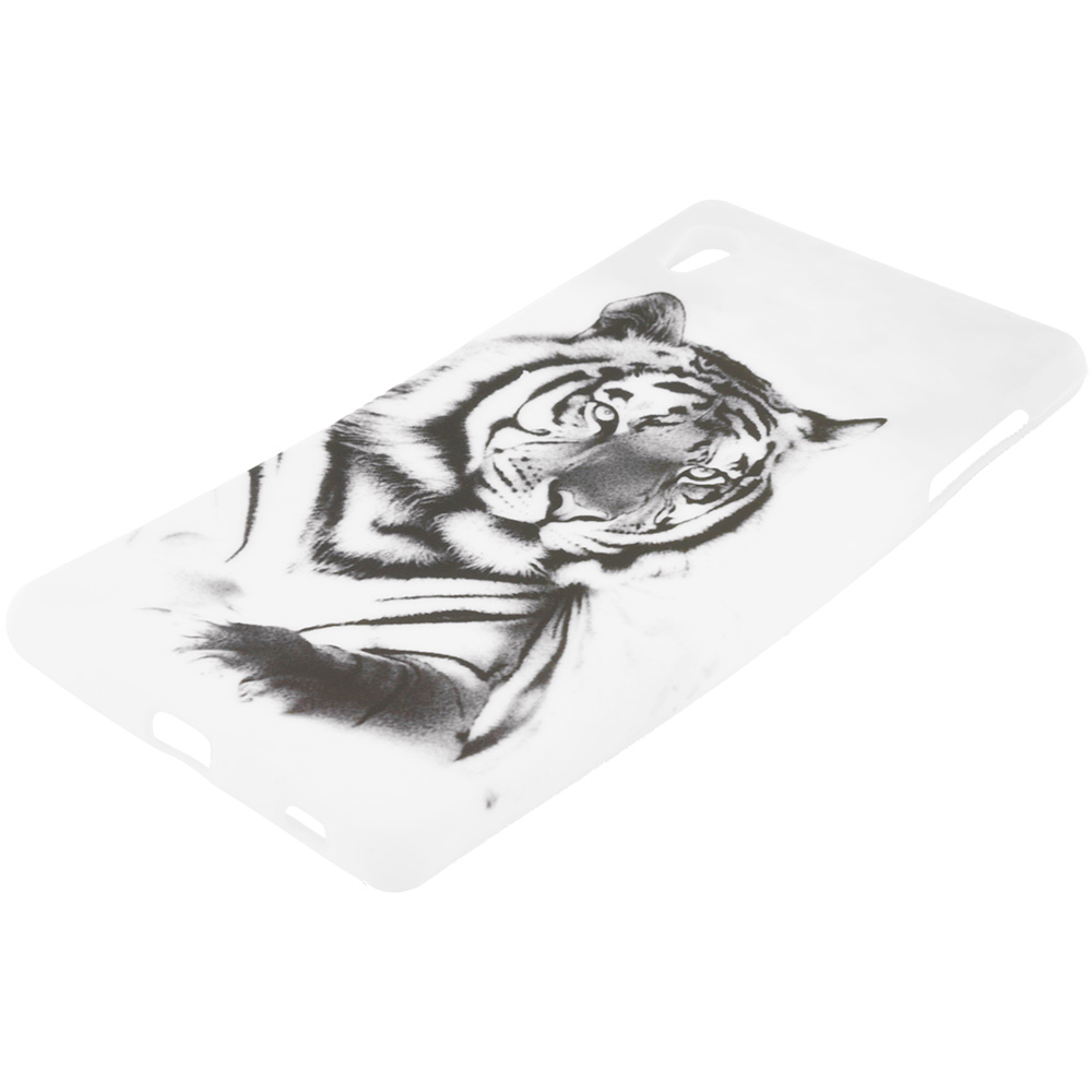 Sony Xperia Z4v White Tiger TPU Design Soft Rubber Case Cover