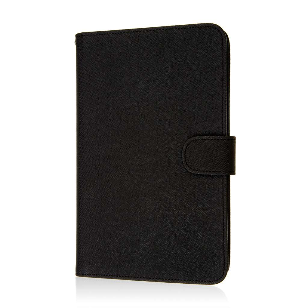 Alcatel OneTouch Pop 7 - Black MPERO FLEX FLIP Wallet Case Cover