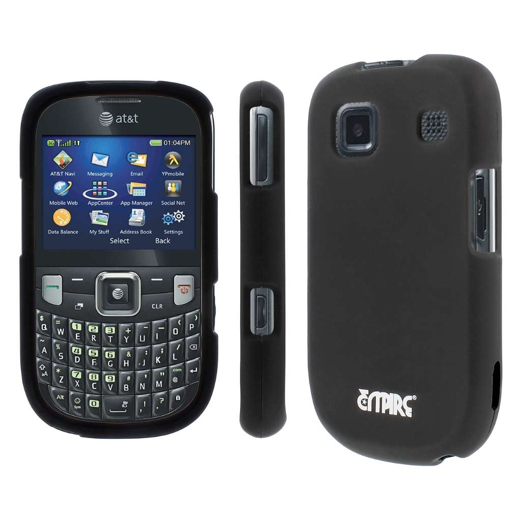 ZTE Z431 MPERO Full Protection Hard Rubberized Black Case Cover