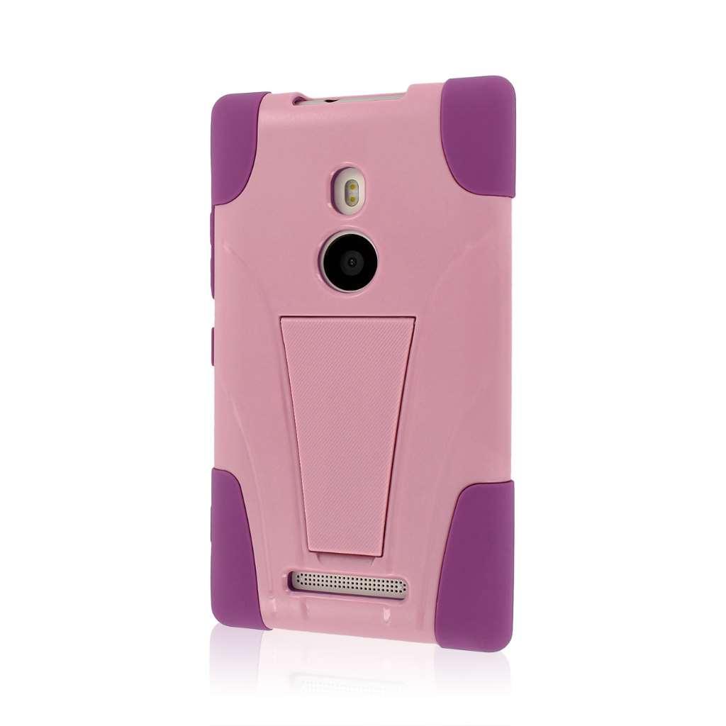 Nokia Lumia 925 - Pink MPERO IMPACT X - Kickstand Case Cover