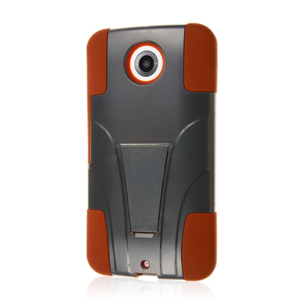 Google Nexus 6 - Sandstone / Gray MPERO IMPACT X - Kickstand Case Cover