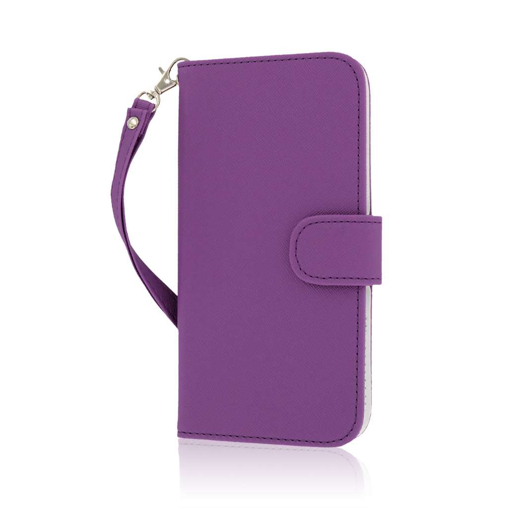 Apple iPhone 6 6S Plus - Purple MPERO FLEX FLIP Wallet Case Cover