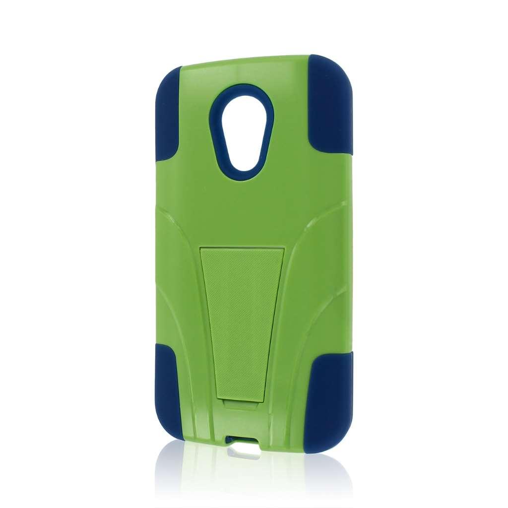 Motorola Moto G 2nd Gen 2014 - Blue / Green MPERO IMPACT X - Kickstand Case