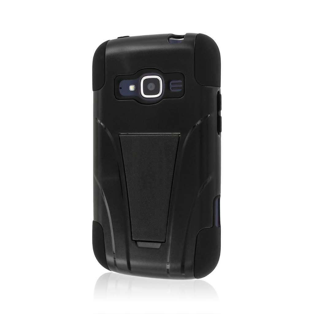 ZTE Concord 2 - Black MPERO IMPACT X - Kickstand Case Cover