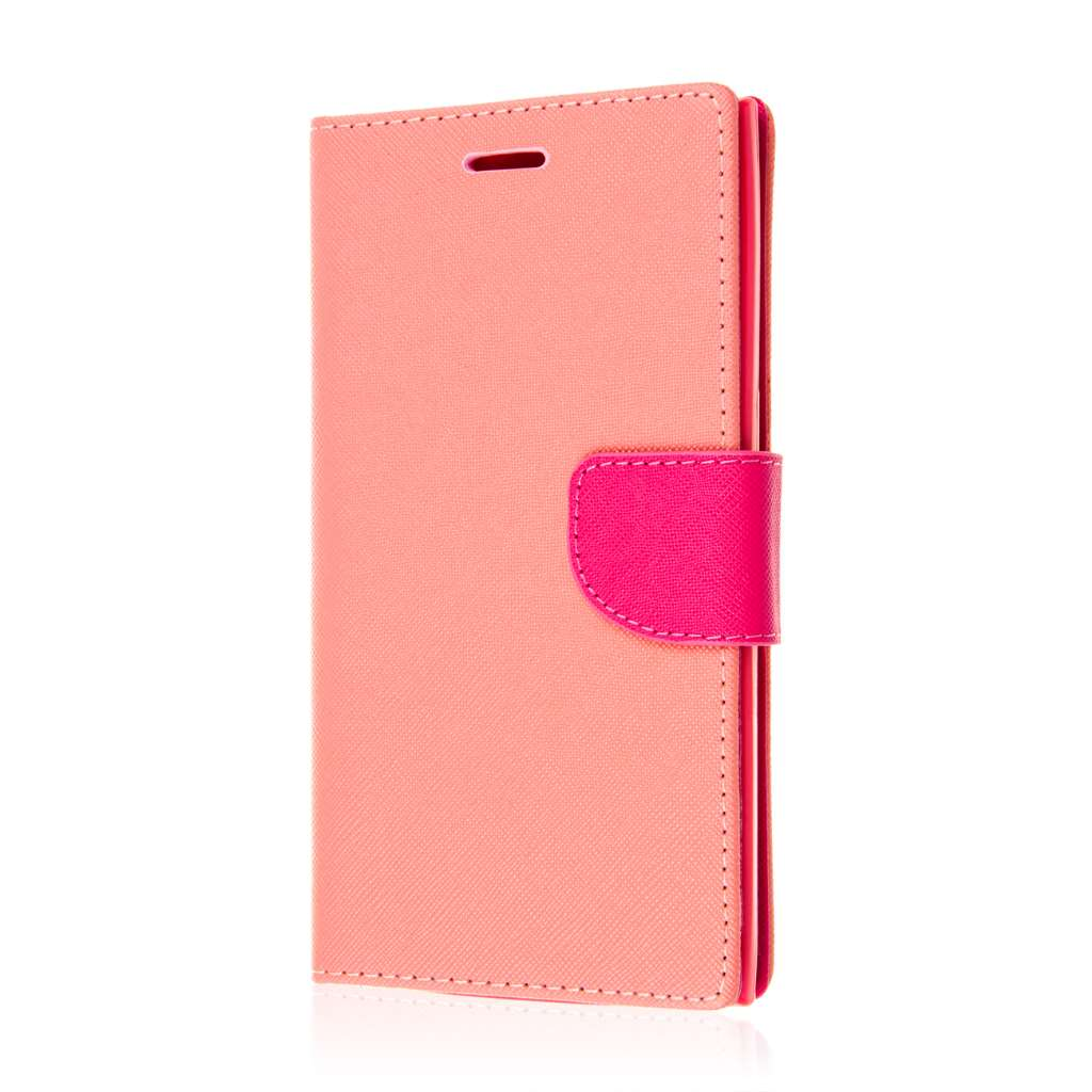 ZTE ZMAX - Hot Pink MPERO FLEX FLIP 2 Wallet Stand Case Cover