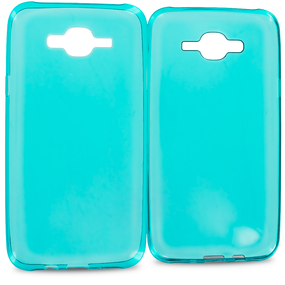 Samsung Galaxy J7 Baby Blue TPU Rubber Skin Case Cover