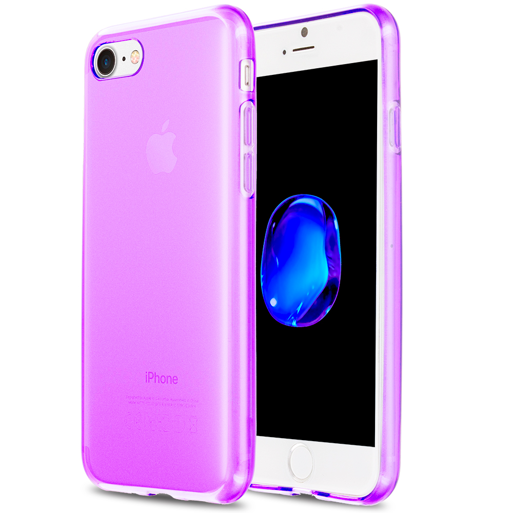 Apple iPhone 7 Plus Purple TPU Rubber Skin Case Cover