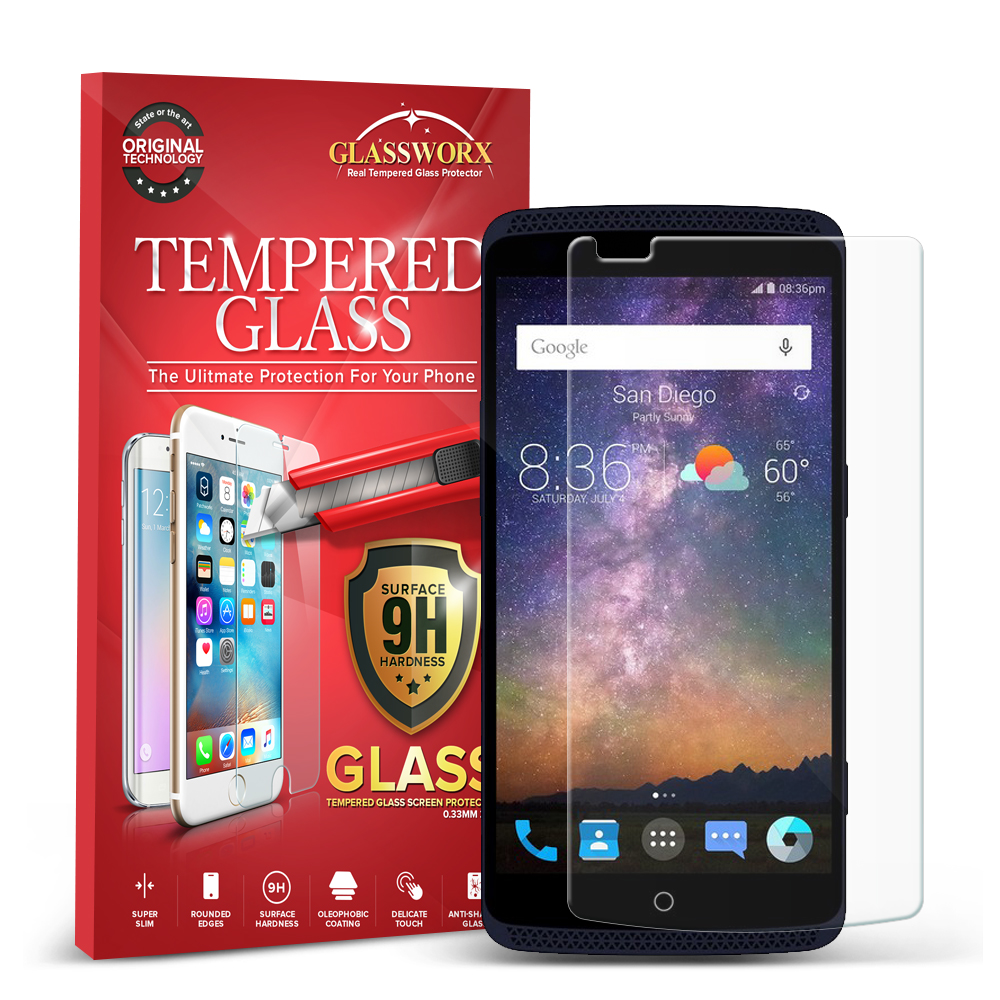 ZTE Axon Clear GlassWorX HD Tempered Glass Screen Protector