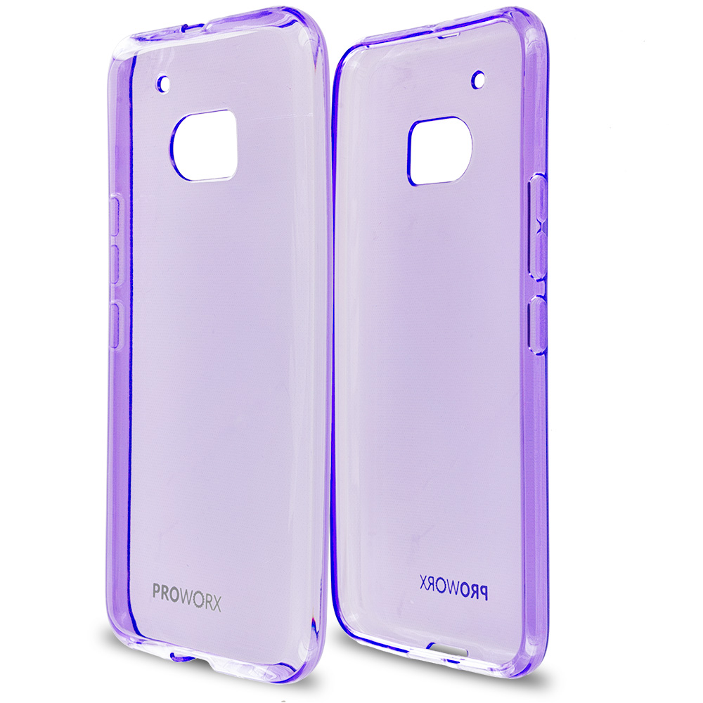 HTC One 10 M10 Purple ProWorx Ultra Slim Thin Scratch Resistant TPU Silicone Case Cover