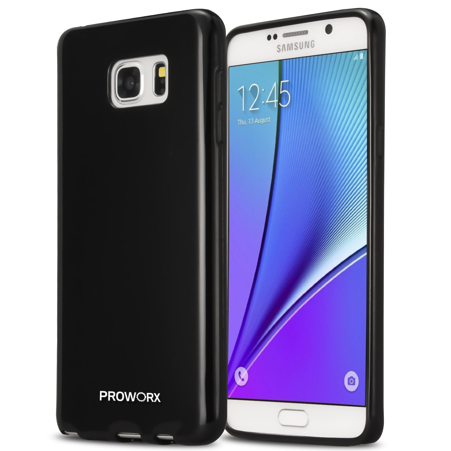 Samsung Galaxy Note 5 Black ProWorx Ultra Slim Thin Scratch Resistant TPU Silicone Case Cover