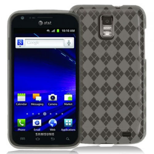 Samsung Skyrocket i727 Smoke Checkered TPU Rubber Skin Case Cover