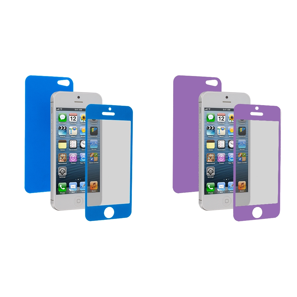Apple iPhone 5 / 5S Combo Pack : Blue LCD Screen Protector