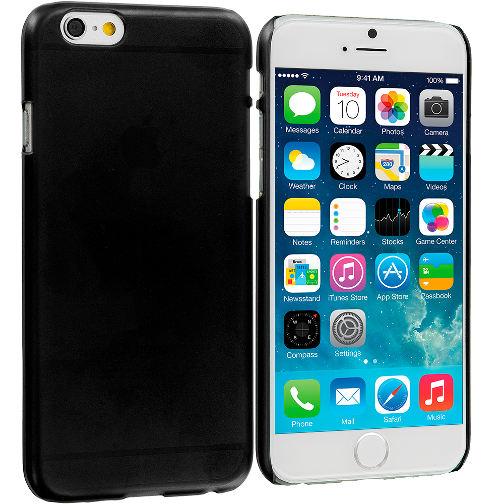 Apple iPhone 6 6S (4.7) 3 in 1 Combo Bundle Pack - Crystal Hard Back Cover Case : Color Black