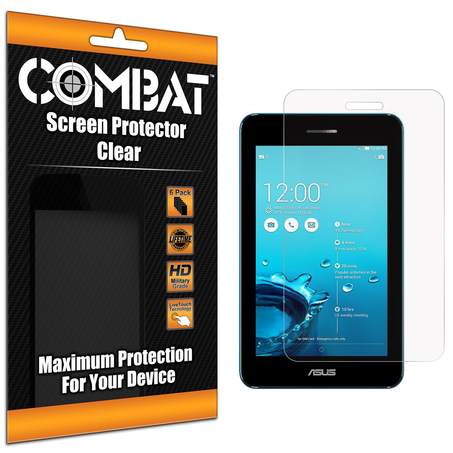 Asus PadFone X mini Clear Combat 6 Pack HD Clear Screen Protector
