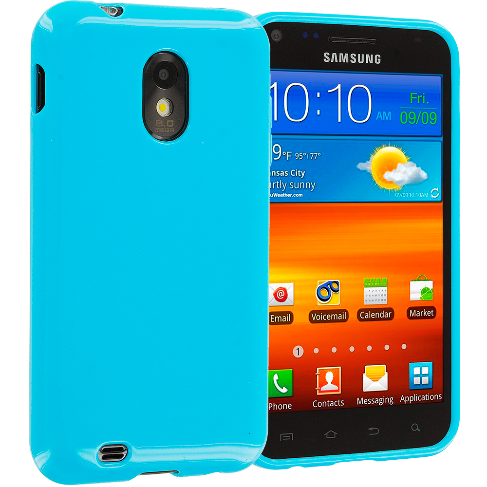 Samsung Epic Touch 4G D710 Sprint Galaxy S2 Baby blue TPU Rubber Skin Case Cover