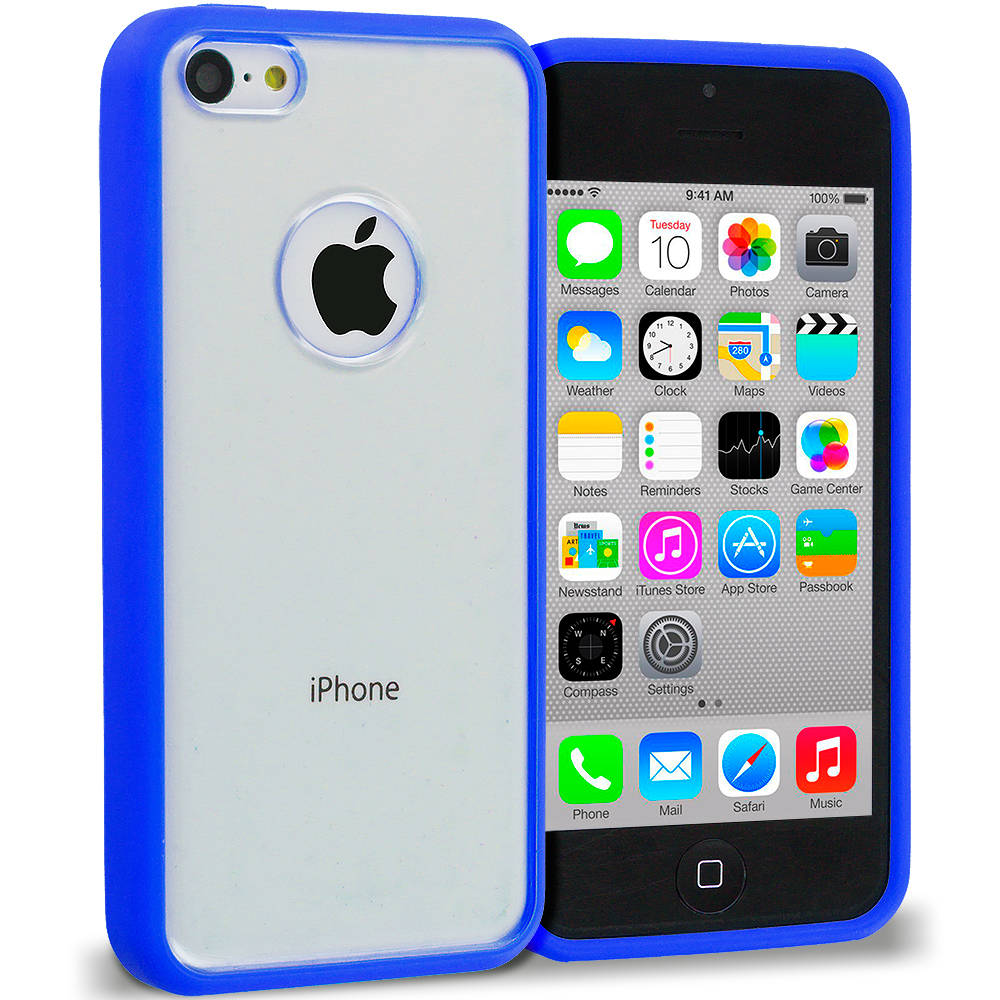 Apple iPhone 5C Blue TPU Plastic Hybrid Case Cover