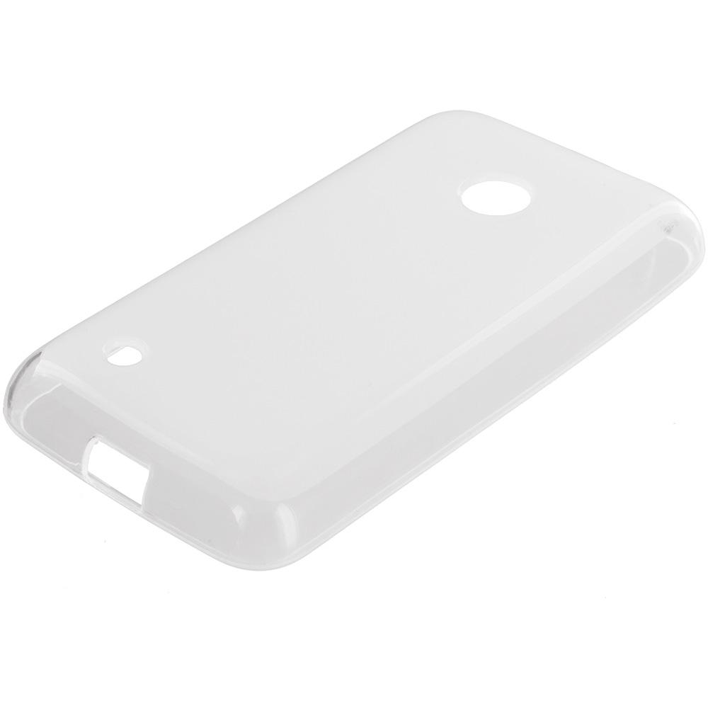 Nokia Lumia 530 Clear TPU Rubber Skin Case Cover