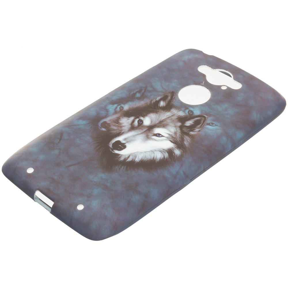 Motorola Droid Turbo Wolf TPU Design Soft Rubber Case Cover