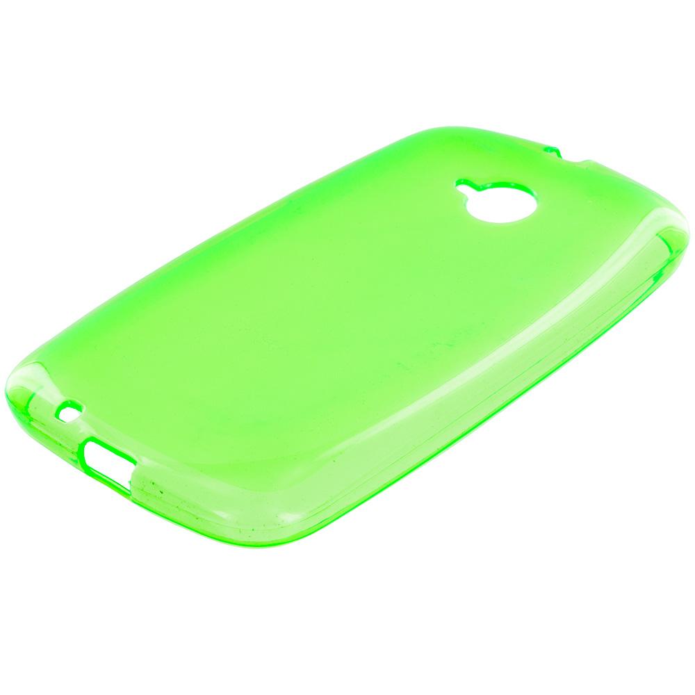 Motorola Moto E LTE 2nd Generation Neon Green TPU Rubber Skin Case Cover