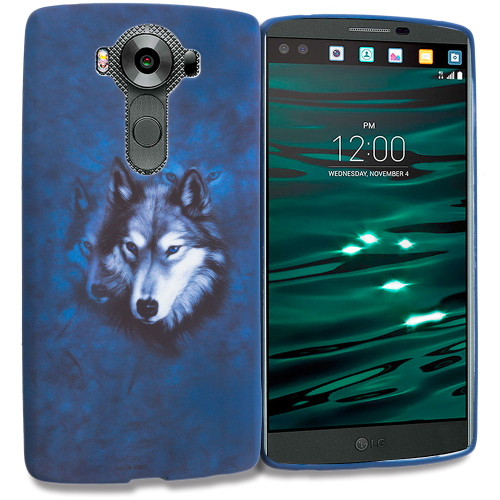 LG V10 Wolf TPU Design Soft Rubber Case Cover