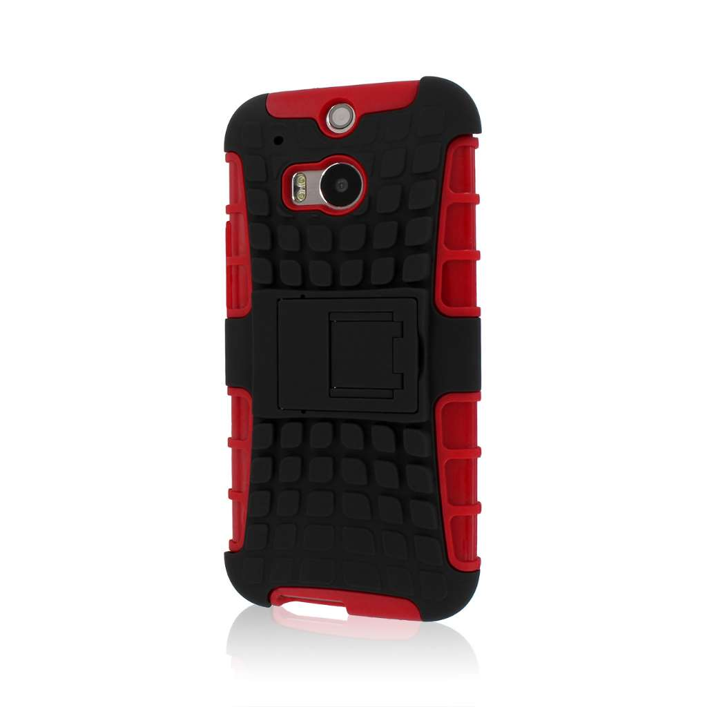 HTC One M8/ M8- RED MPERO IMPACT SR - Kickstand Case Cover