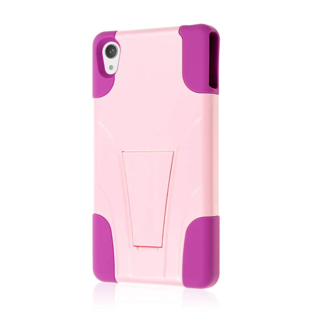 Sony Xperia Z3v - Pink MPERO IMPACT X - Kickstand Case Cover