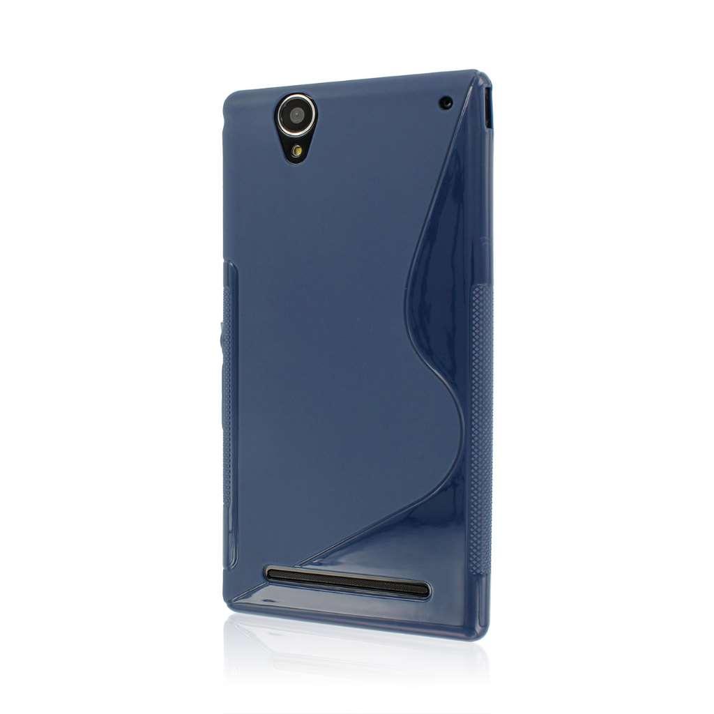 Sony Xperia T2 Ultra - Navy Blue MPERO FLEX S - Protective Case Cover
